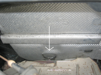 location of air conditioning drain for 1998 Volkswagen Golf